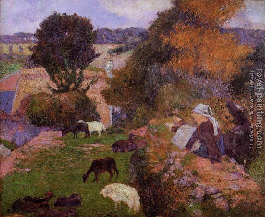 Paul Gauguin : Breton Shepherdess